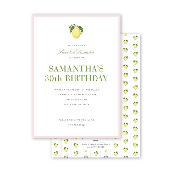 Savannah Gordon Street Lemon Pink Birthday