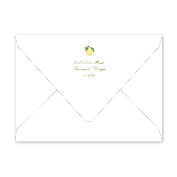 Savannah Gordon Street Lemon Dinner/Party Envelopes
