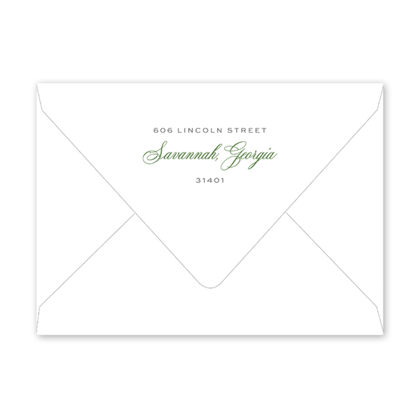 Savannah Habersham Street Border Invitation Envelopes