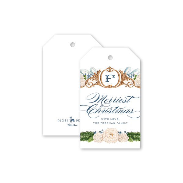 Bartlett Heraldry Blue Gift Tags
