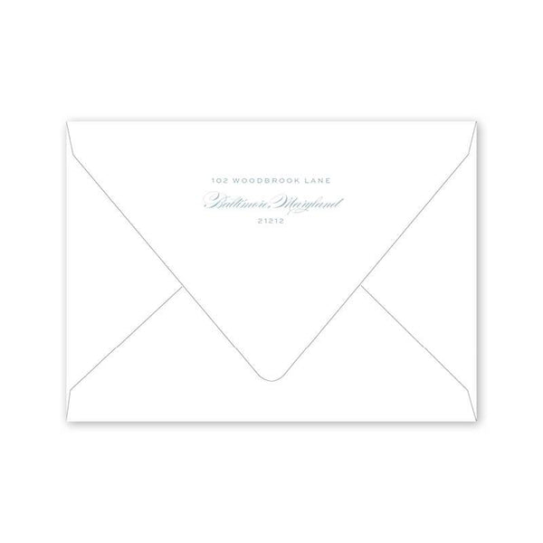 Bartlett Heraldry Bridal Luncheon Envelopes