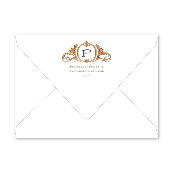 Bartlett Heraldry Green Envelopes