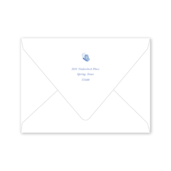 Bird Branch Blue Notecard Envelopes