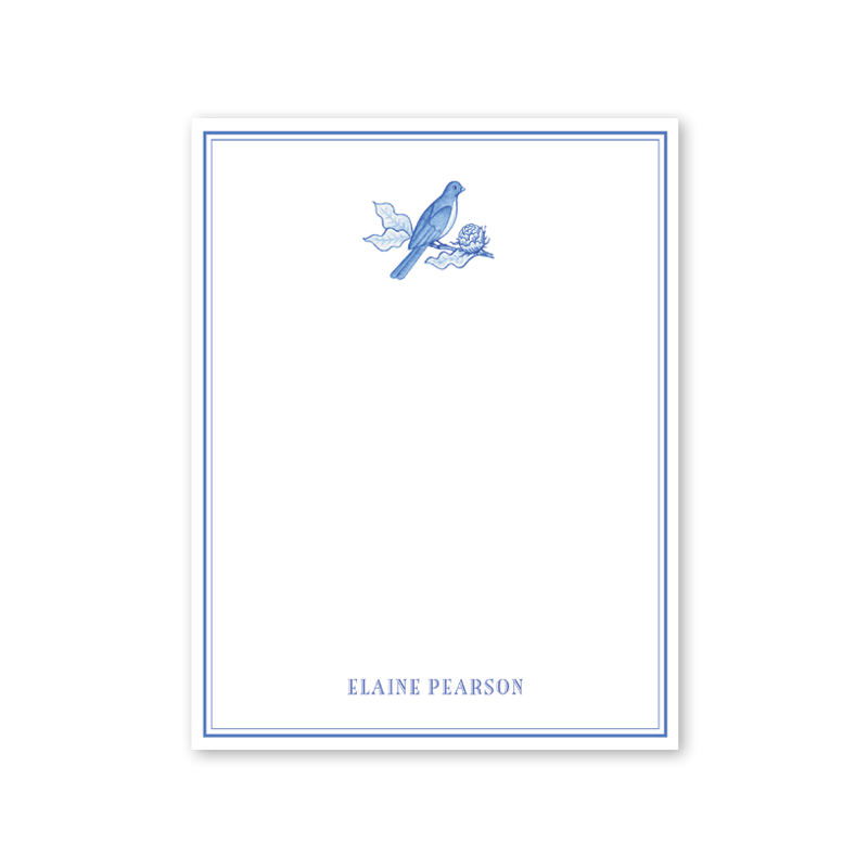 Bird Branch Blue Notepad