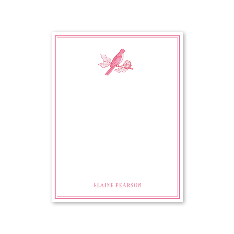 Bird Branch Pink Notepad