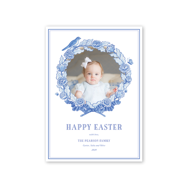 Bird Wreath Blue Easter