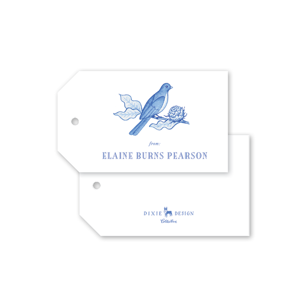 Bird Branch Blue Gift Tags