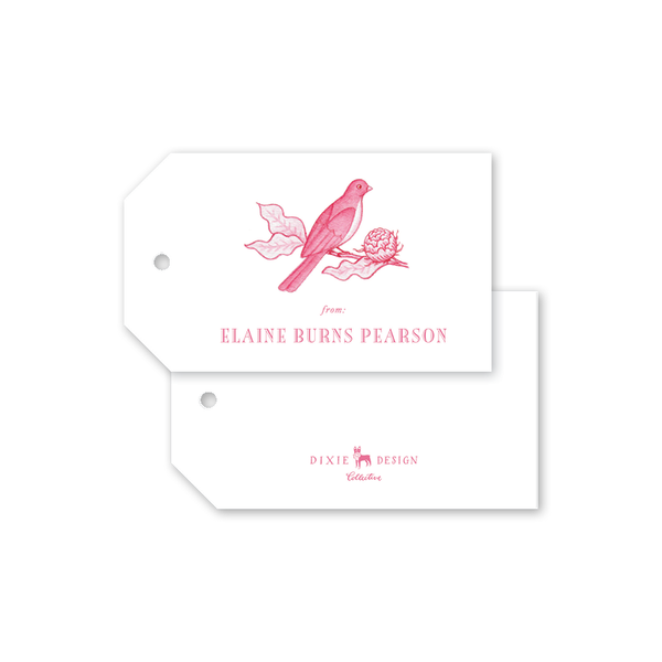 Bird Branch Pink Gift Tags
