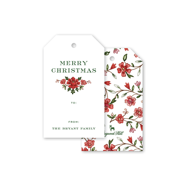 English Blossoms Gift Tags