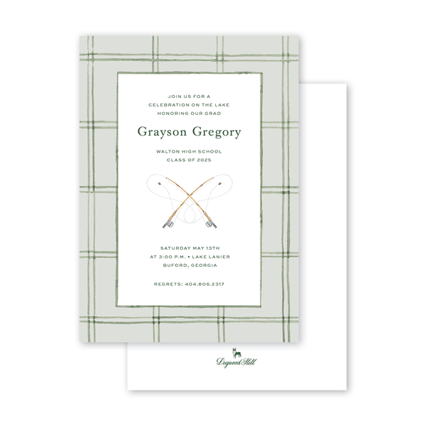Fly Fishing Graduation Invitation