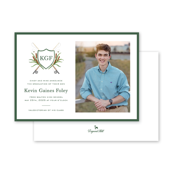 Fly Fishing Graduation Photo Announcement