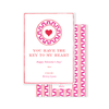 Greek Key Pink Emblem Valentine