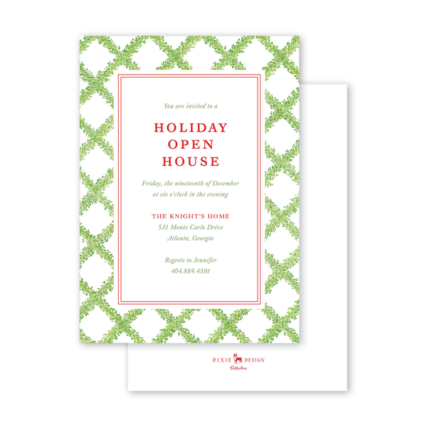 Boxwood Ribbon Invitation