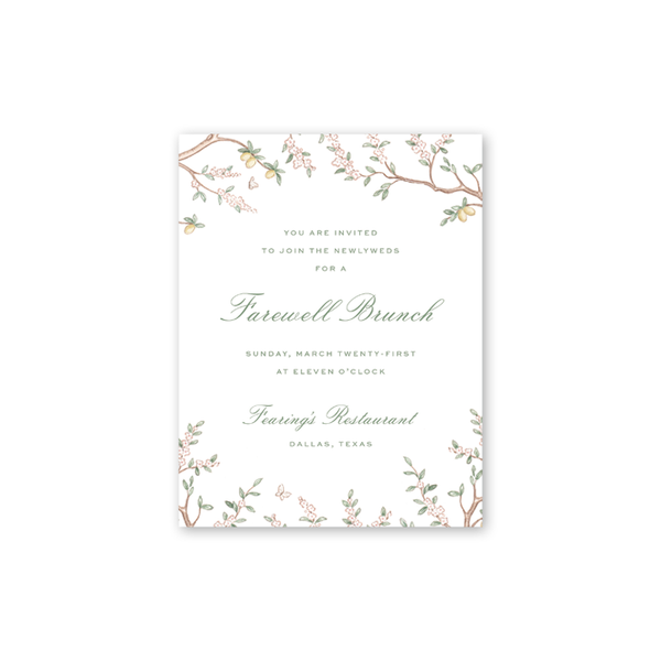 Chinoiserie Branches Details Cards