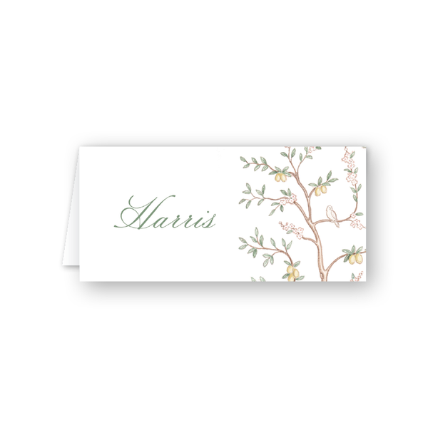 Chinoiserie Branches Place Card