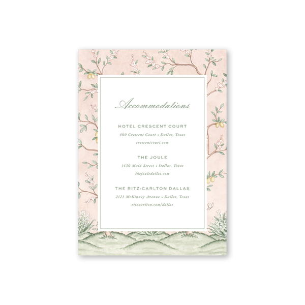 Chinoiserie Accommodations Card