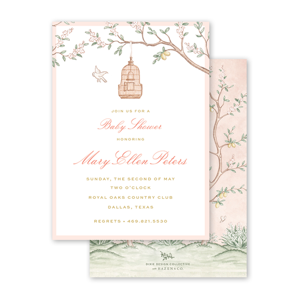 Chinoiserie Garden Baby Shower