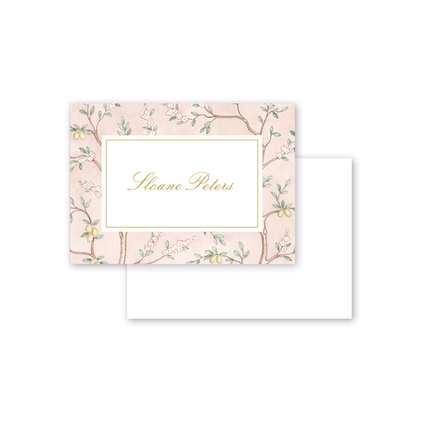 Chinoiserie Garden Border Calling Card