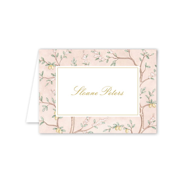 Chinoiserie Garden Border Folded Notecard