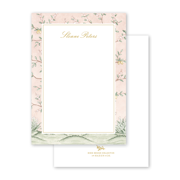Chinoiserie Garden Border Notecard