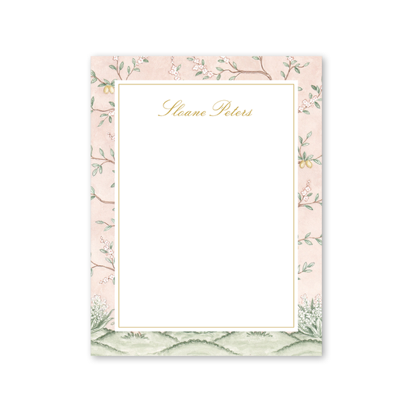Chinoiserie Garden Border Notepad