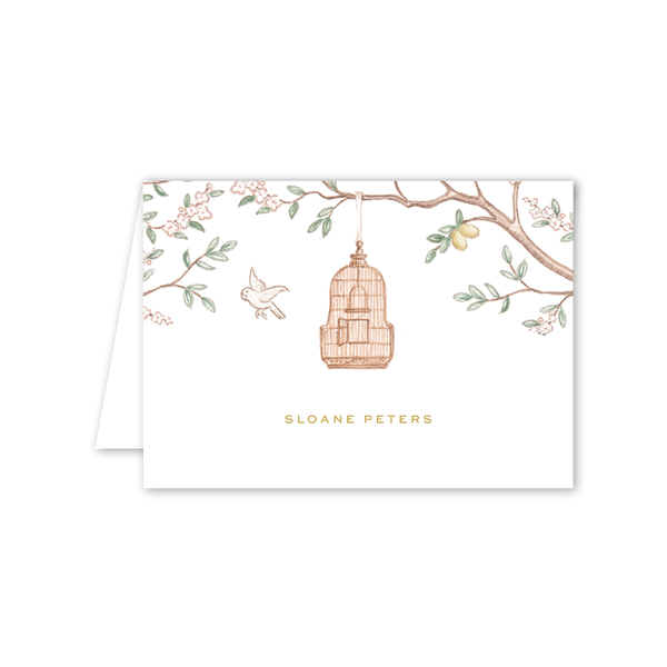 Chinoiserie Garden Folded Notecard