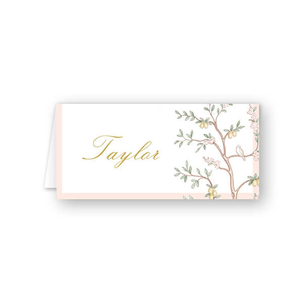 Chinoiserie Garden Place Card