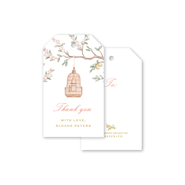Chinoiserie Garden Thank You Gift Tags