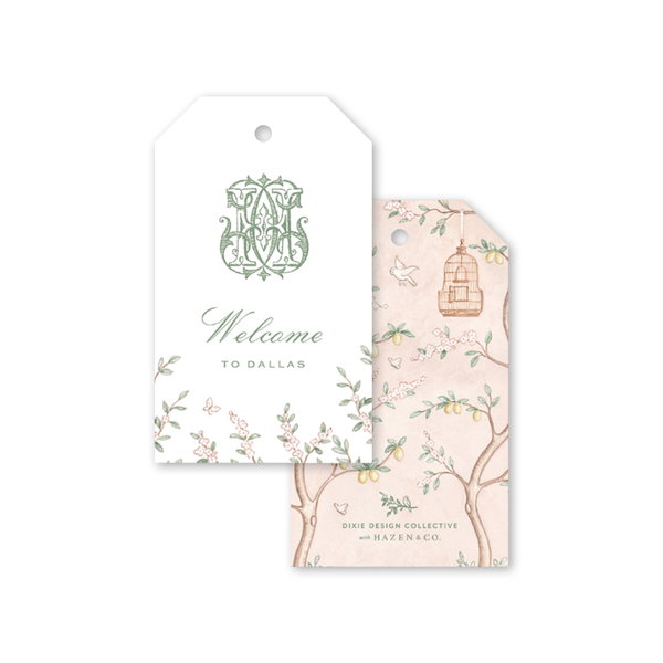 Chinoiserie Monogram Gift Tags