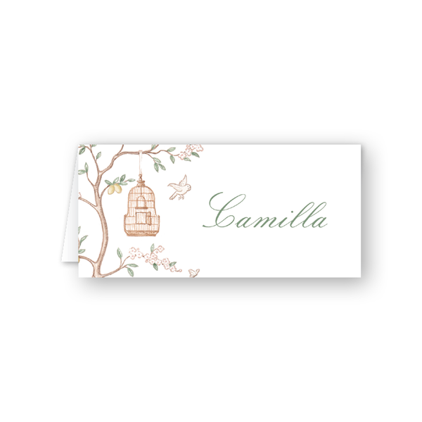 Chinoiserie Place Card