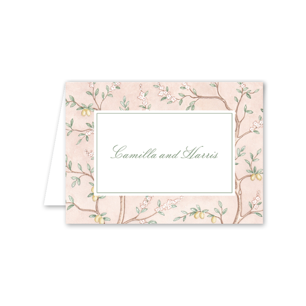 Chinoiserie Folded Notecard