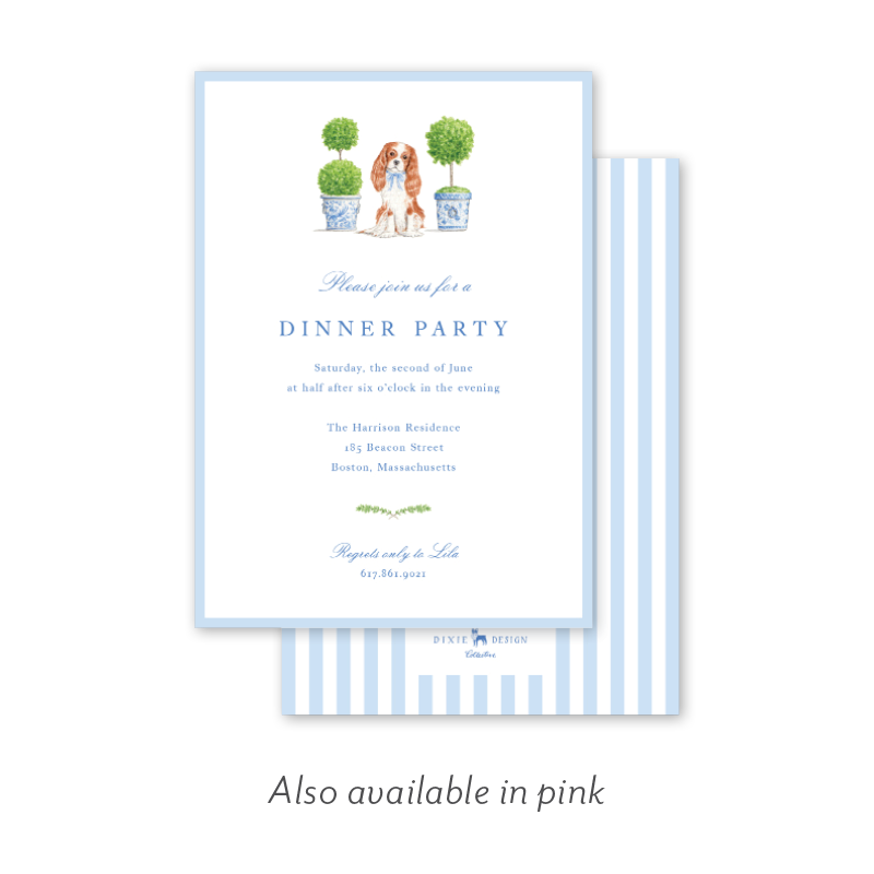 Dash Topiary and Toile Dinner/Party