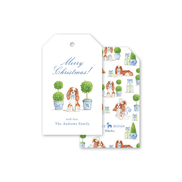 Dash Topiary and Toile Christmas Gift Tags