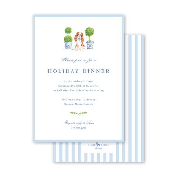 Dash Topiary and Toile Invitation