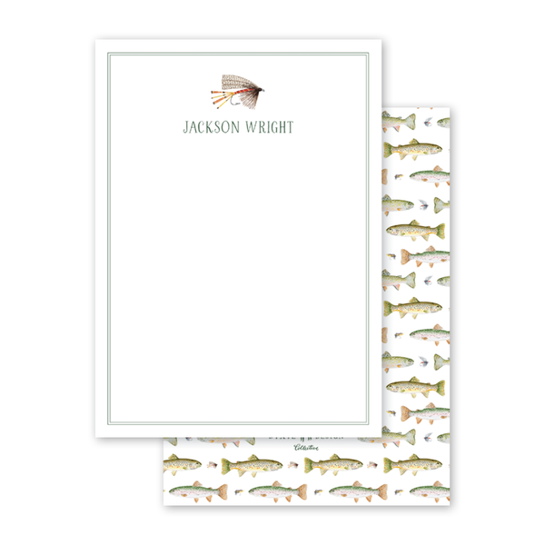 Fly Fishing Bait Notecard