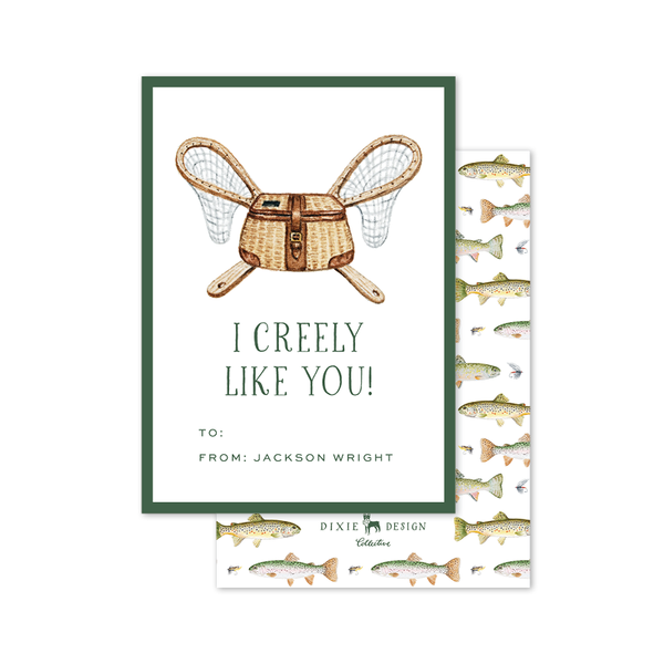 Fly Fishing Creel Valentine