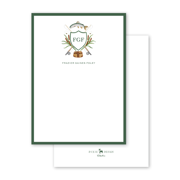 Fly Fishing Crest Notecard