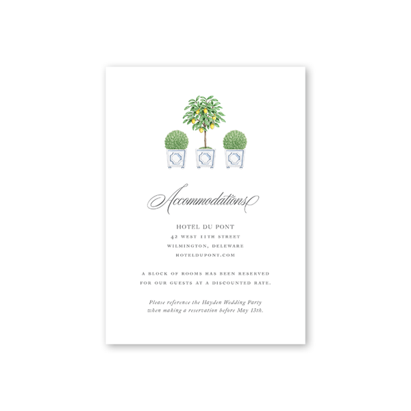 Parterre Accommodations Card