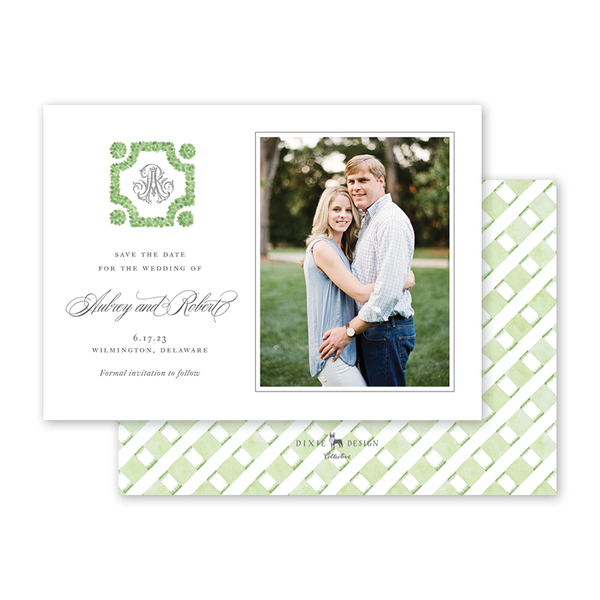 Parterre Monogram Photo Save The Date