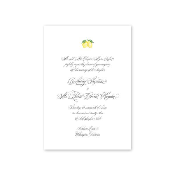 Parterre Wedding Invitation