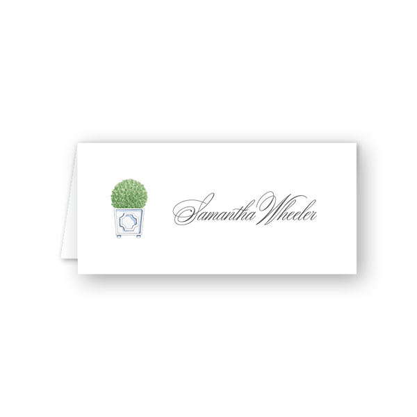 Parterre Topiary Place Card