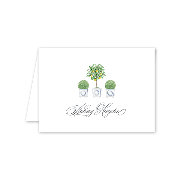 Parterre Topiary Folded Notecard