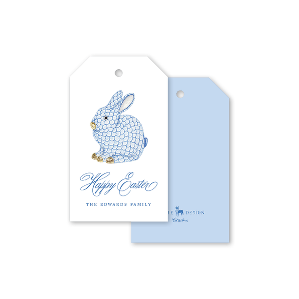 Porcelain Bunny Easter Gift Tags