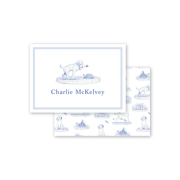 Snips and Snails Puppy Landscape Calling Card