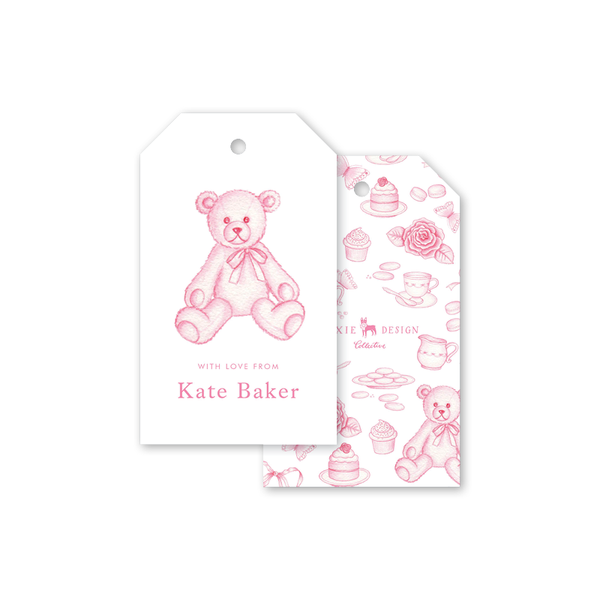 Sugar and Spice Pink Bear Gift Tags