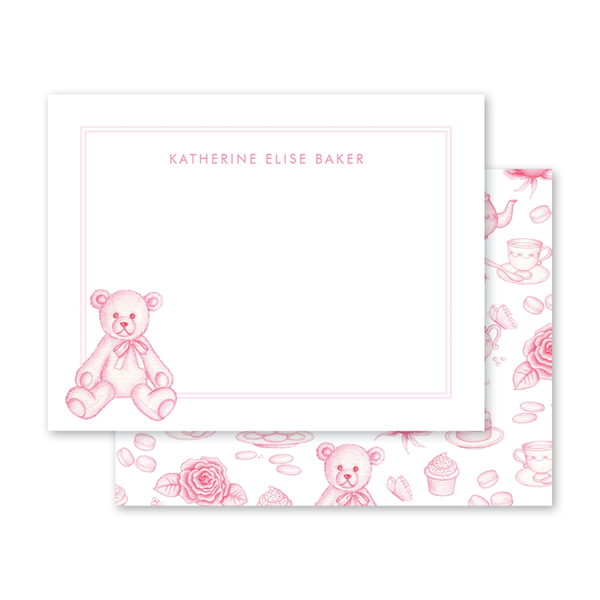 Sugar and Spice Pink Bear Notecard