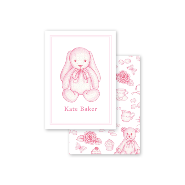 Sugar and Spice Pink Bunny Calling Card