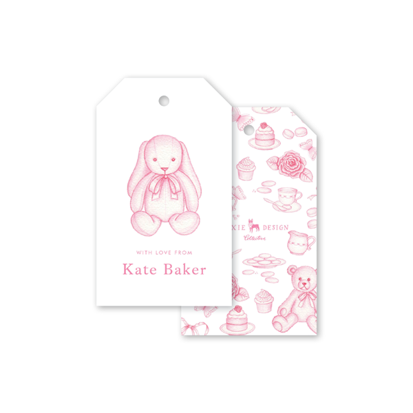Sugar and Spice Pink Bunny Gift Tags