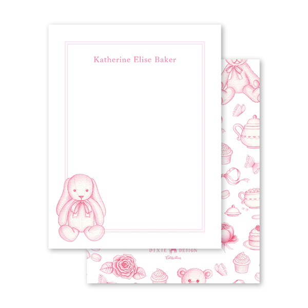 Sugar and Spice Pink Bunny Notecard