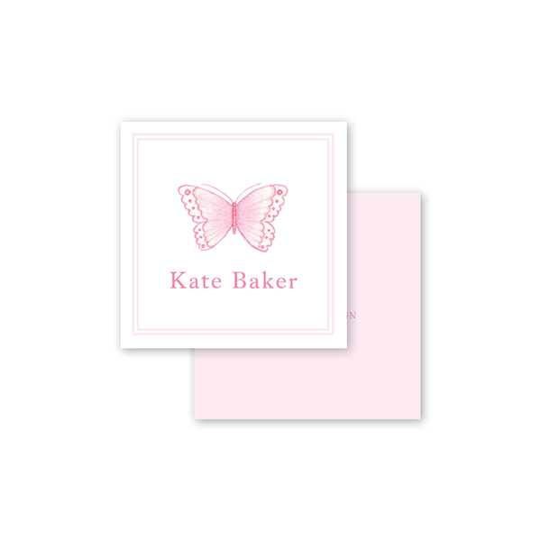 Sugar and Spice Pink Butterfly Calling Card